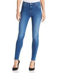 J Brand - Maria High Rise Skinny Jeans In Solar - Lyst