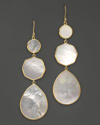 Ippolita - 18k Gold Polished Rock Candy Crazy 8's Earrings In Mother-of-pearl - Lyst