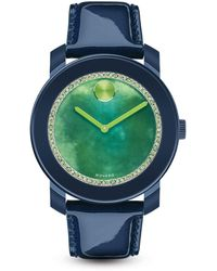 Movado Bold - Navy Watch With Green Watercolor Sunray Dial, 42mm - Bloomingdale's Exclusive - Lyst