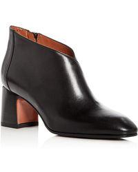 Aquatalia - Women's Elodina Weatherproof Leather Block Heel Booties - Lyst