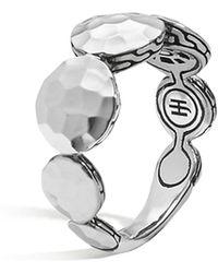 John Hardy - Women's Sterling Silver Palu Round Disc Ring - Lyst