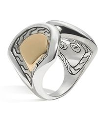 John Hardy - Women's 18k Gold And Sterling Silver Naga Large Scale Ring - Lyst