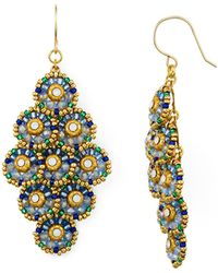 Miguel Ases - Circle Cluster Drop Earrings - Lyst