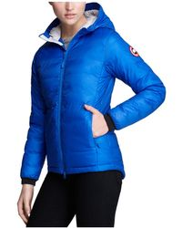Canada Goose | Down Coat - Pbi Camp Hooded Lightweight | Lyst