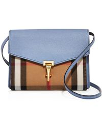 Burberry - Macken House Check Small Crossbody - Lyst