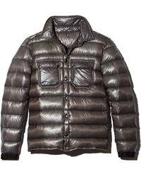 Isaora - Metallic Down Overshirt Jacket - Lyst