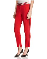 T Tahari - Bruna Belted Side-stripe Trousers - Lyst