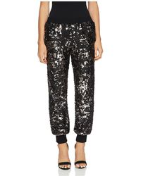 1.STATE - Sequined Jogger Trousers - Lyst