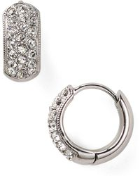 Nadri - Tiny Pavé Huggie Hoop Earrings - Lyst