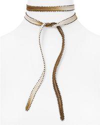 Chan Luu - Dip Dyed Beaded Edge Necktie - Lyst