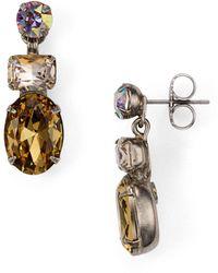 Sorrelli - Tri-stone Post Earrings - Lyst