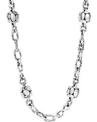 "John Hardy - Kali Sterling Silver Square Station Sautoir Necklace, 18"" - Lyst"
