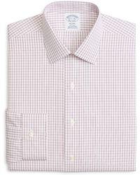 Brooks Brothers - Windowpane Classic Fit Dress Shirt - Lyst