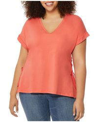 REBEL WILSON X ANGELS - Dolman-sleeve Lace-up Tee - Lyst