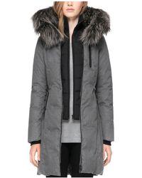 SOIA & KYO - Chrissy Fox Fur Trim Down Parka - Lyst