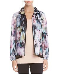 Karen Kane - Active Abstract Floral Print Jacket - Lyst