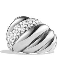 David Yurman - Hampton Cable Ring With Diamonds - Lyst