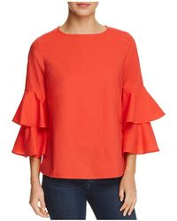 Beach Lunch Lounge - Tiered Bell Sleeve Top - Lyst
