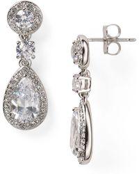 Nadri - Framed Drop Earrings - Lyst