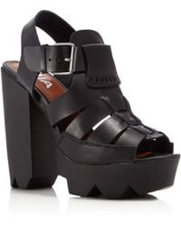 MIA - Luka Peep Toe Platform High Heel Sandals - Compare At $79 - Lyst