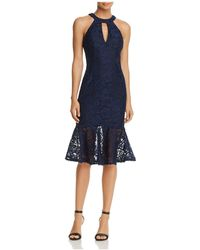 Betsy & Adam - Keyhole Lace Dress - Lyst