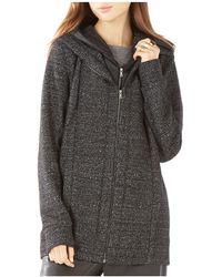 BCBGMAXAZRIA - Nathyn Quilted Inset Sweatshirt - Lyst