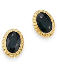 Bloomingdale's - Blue Sapphire Oval Stud Earrings In 14k Yellow Gold - Lyst