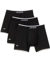 Lacoste | 3-pack Cotton Stretch Boxer Briefs | Lyst