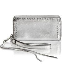 Rebecca Minkoff - Vanity Leather Phone Wallet - Lyst