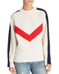 SJYP - Color-blocked Wool Sweater - Lyst
