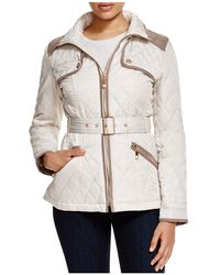 Vince Camuto - Belted Diamond Quilted Jacket - Lyst
