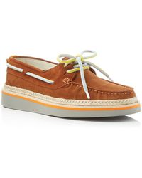 MSGM - Lace Up Espadrille Boat Shoes - Lyst
