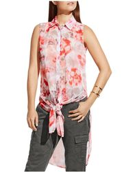 Two By Vince Camuto - Tie-front Tunic - Lyst