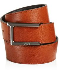 Tumi - T-buckle Leather Reversible Belt - Lyst