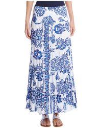Karen Kane - Damask Print Maxi Skirt - Lyst