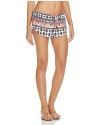 Becca - Belly Dancer Swim Cover Up Shorts - Lyst