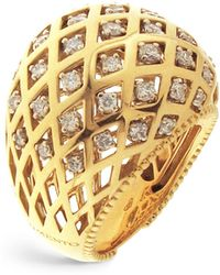 Chimento - 18k White And Yellow Gold Olimpia Ring With Diamonds - Lyst