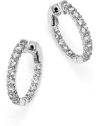 Bloomingdale's - Diamond Inside Out Hoop Earrings In 14k White Gold - Lyst