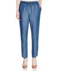Andrea Jovine - Drawstring Chambray Pants - Compare At $78 - Lyst