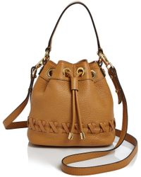 MILLY - Small Astor Whipstitch Drawstring Bucket Bag - Lyst