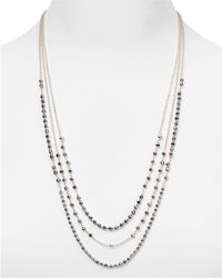 "Argento Vivo - Triple Strand Chain Necklace, 24"" - Lyst"