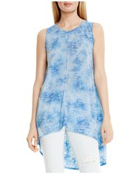 Two By Vince Camuto - High/low Burnout Top - Lyst