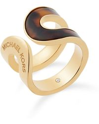 Michael Kors - Curved Ring - Lyst