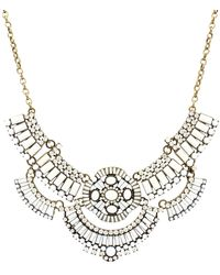 Sparkling Sage - Detailed Stone & Crystal Layered Bib Necklace - Compare At $147 - Lyst