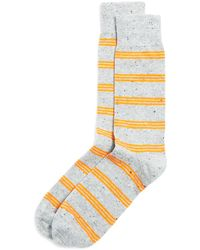 Bloomingdale's - Triple Stripe Dress Socks - Lyst