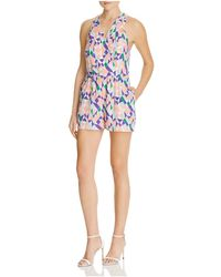 Greylin - Printed Crossover Romper - Compare At $155 - Lyst