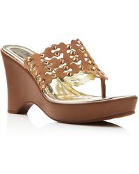 Carlos By Carlos Santana - Karina Thong Wedge Sandals - Compare At $79 - Lyst