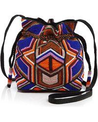 MILLY - Small Bead Drawstring Bucket Bag - Lyst