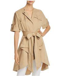 Badgley Mischka   Short-sleeve Trench Coat   Lyst