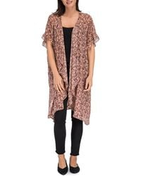 B Collection By Bobeau - Elle Printed Duster - Lyst